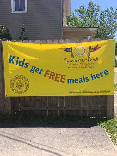 Free breakfast and lunch for anyone 18 years old and under through the Summer Food Service Program