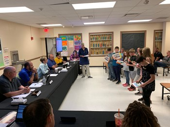 Sixth graders speak to Board of Education about upcoming trip