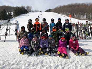 4th graders learn to ski at Toggenburg Mountain