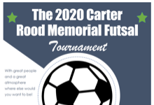 Registration open for 2020 Carter Rood Memorial Futsal Tournament, now expanded to 2 days