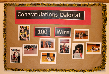 Dakota  Hackett earns 100th career win!