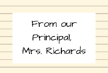 January 2020: Principal's Message, and a request
