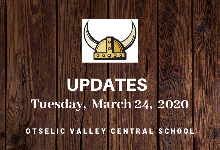 UPDATES for Tuesday, March 24,  2020