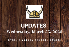 UPDATES for Wednesday, March 25,  2020