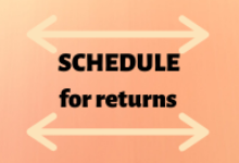 Schedule for returning school devices, books, etc.