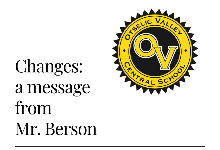 Change:  an important message from Mr. Berson