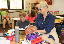 Mrs. Lori Youngs, 6th grade teacher, named the DCMO BOCES 2019 Library Support Staff of the Year