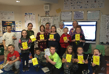 South Otselic Grange gifts third graders with personal dictionaries