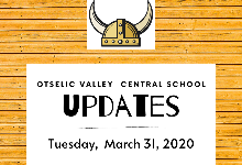 UPDATES for Tuesday,  March 31, 2020